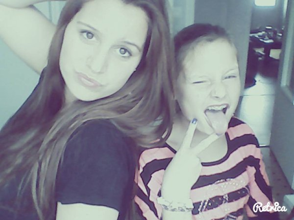 Avec la petite soeur mon amouur <3