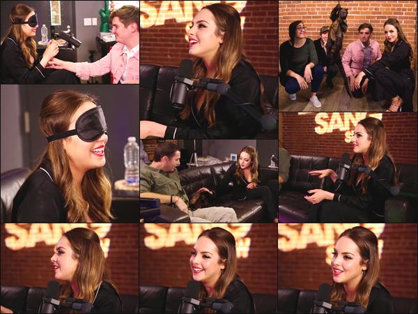 ''• '02/05/18:'' Elizabeth Gillies a donné une interview pour l'émission de web-radio « Zach Sang Show » LA. La jolie actrice était vraiment souriante lors de cet interview, je la trouve radieuse ! Je lui accorde un très grand top pour sa tenue et toi ?!
