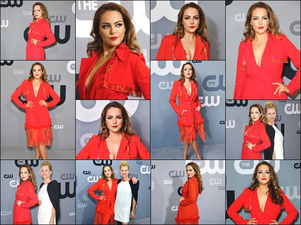 ''• '17/05/18:'' Elizabeth était présente à l'évenement « CW Network Upfront Presentation » dans New York. En ce qui concerne sa tenue : la jeune femme était vêtue de rouge lors de cet événement ! Je lui accorde un immense top pour sa tenue !