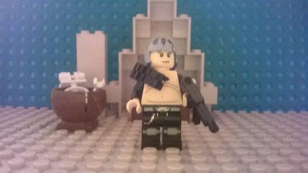 un mutant, un raiders, un soldat de la licorne d'argent,un voyageur des wastlands