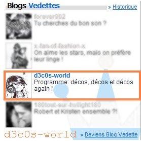 Blog vedette [ au Canada ] =D