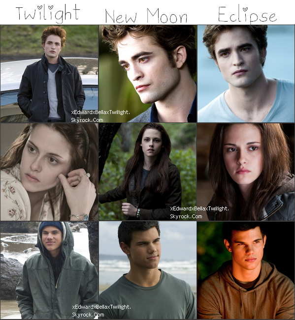 Edward, Bella et Jake :D