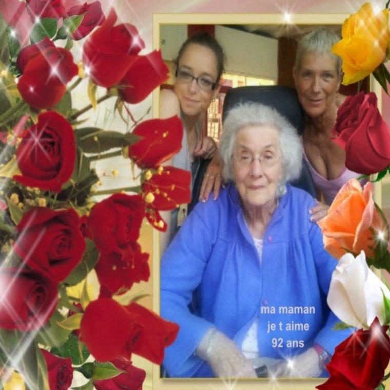 MA MAMAN QUI EST A L HOPITAL TU NOUS A FAIS TRES TRES PEUR GROS BISOUS ON T AIME BICHEDU54