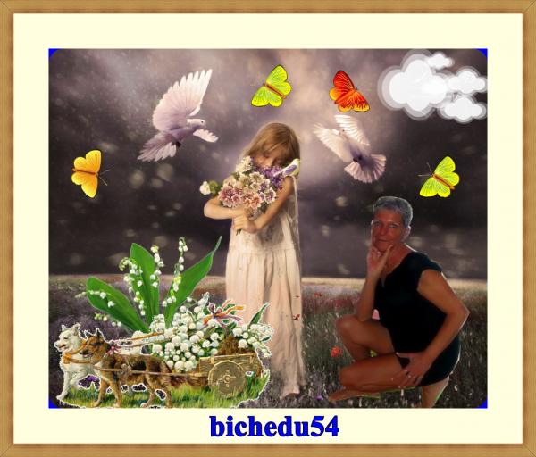 MERCI A MA DOUCE AMIE SPECIAL-CADEAUX-AMIS POUR SA SUPERBE CREATION BISOUS A TOI BICHEDU54