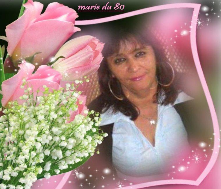 KDOS POUR MON AMIE MARIE-DU-80 QUE CES BRINS DE MUGUET T APPORTE LE BONHEUR BISOUS BICHEDU54