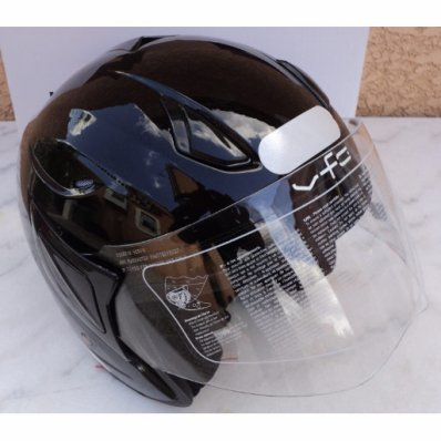 Casque Jet VFC Alcor Noir brillant L