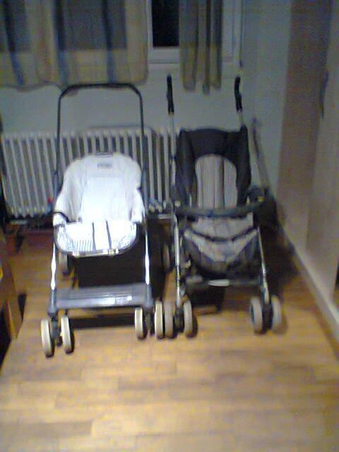 voila mes deux nouvelle poussette de bebe