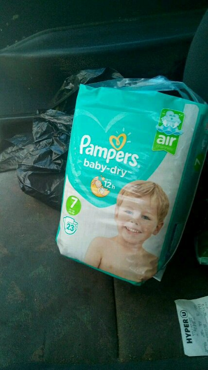 Couche pampers taille 7