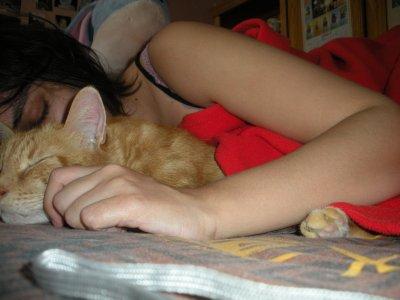 petite sieste avec ma maman