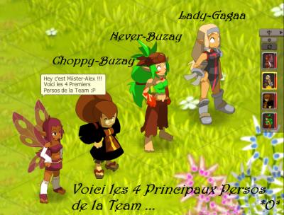 /// !!! \\\ Voici les 4 Principaux Personnages de la Team /// !!! \\\