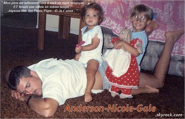 xx.06.2011 // Nicole a posté une nouvelle photo sur son compte Twitter à l' occasion de la fête des père accompagnée d' un message ( Voir photo de l' article )  Elle était trop chou ! ♥