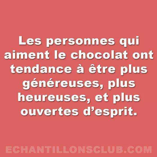 Les personnes qui aiment le chocolat...