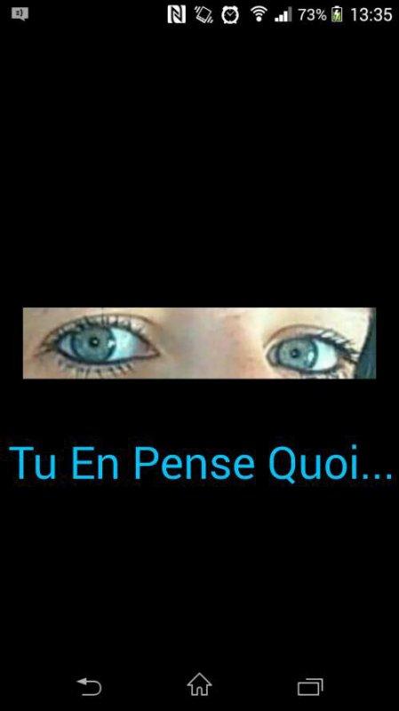 Mes yeux des pures vrai ;-)