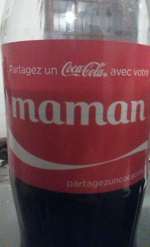 Mes étiquette de coca...