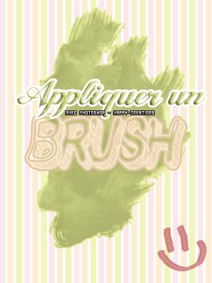 Mettre un brush avec photoshop.