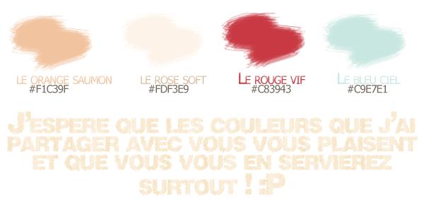 De belles couleurs pour vos blog...