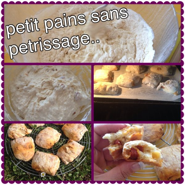 Petits pain sans pétrissage au chorizo !!