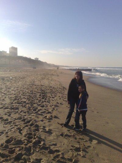 moi est ma fifi a la plage