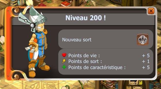 up niveau 200 de iop