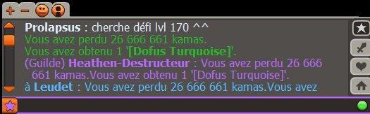 donc voici le petit dofus turquoise + 11 acheté pour le iop