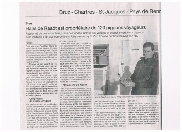 reportage sur Ouest-France d'un amateur du SG35