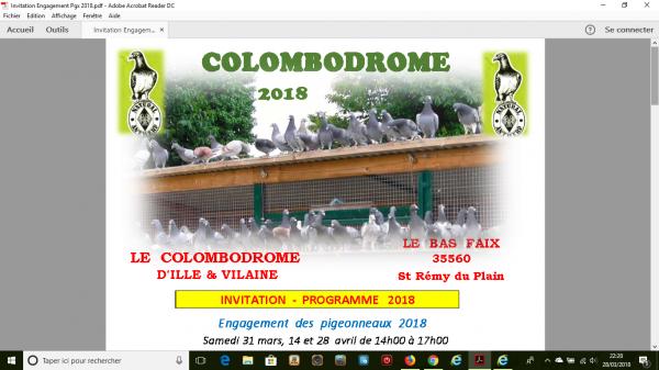 affiche 2018 du colombodrome