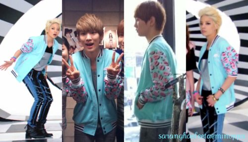 Amber & key : pink blue jacket