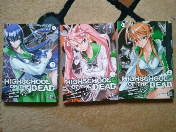 . Manga - Highschool of the dead . .