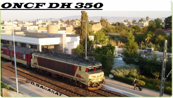 E 1300 à la gare de Sidi Slimane