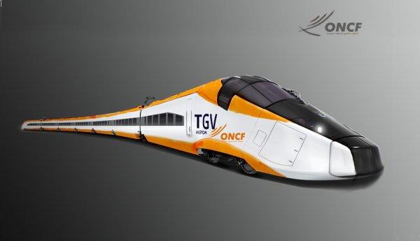 Livrée du futur TGV Marocain....Réalisé  par x-oncf-x  ( Anasse )