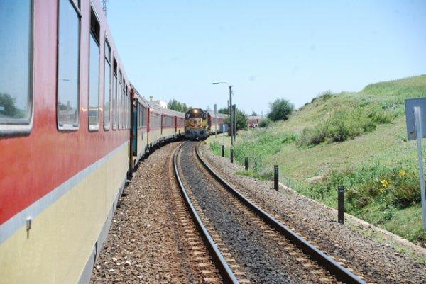 Croisement deux trains entre Taza et Fes