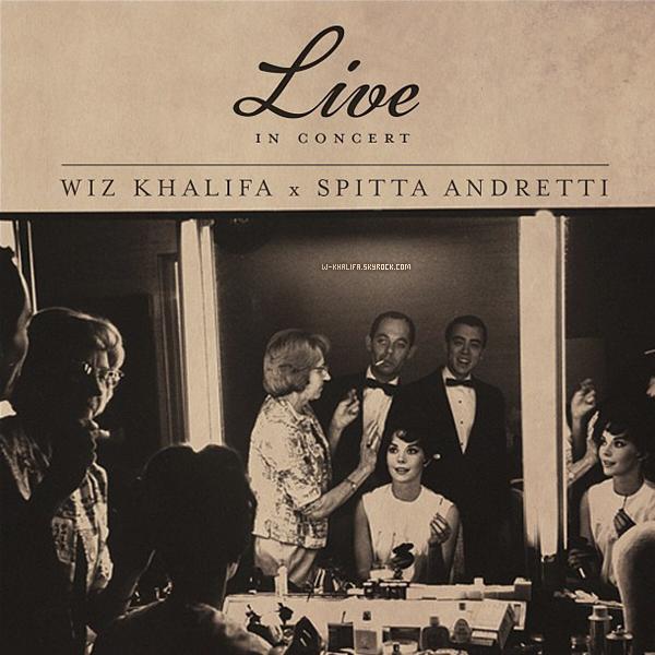 * Voici la couverture de la mixtape Live in Concert de Wiz Khalifa et Curren$y. Elle est prévue pour le 9 août ! *