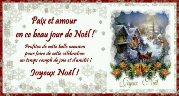 Bon Noël à vous tous mes amis bisous bisous