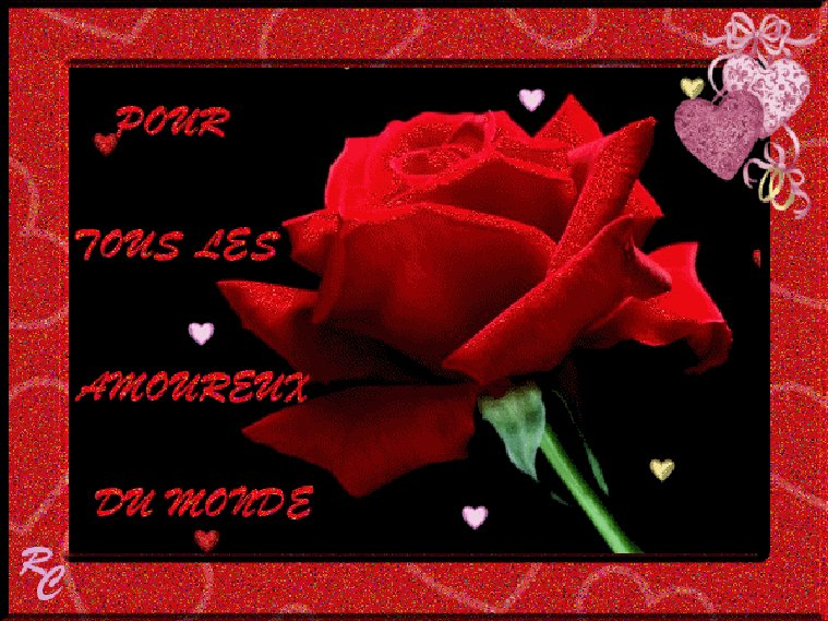 bonne saint valentin a tous les amoureux bisous bisous