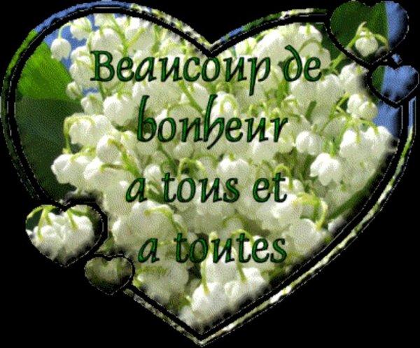 Bon 1er mai à vous mes amis bisous bisous