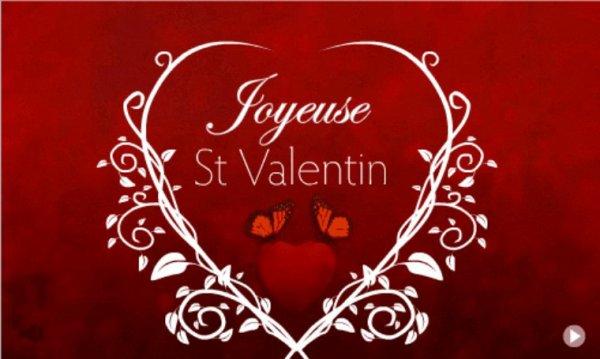 Bonne Saint-Valentin à vous mes amis bisous bisous