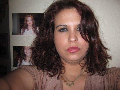 moi avec les cheveux cour bou la pas belle