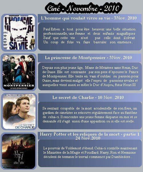 ..D  e  a  r  __________________________________Article n°10 Movies_________________________________» C i n é '   N o v e m b re