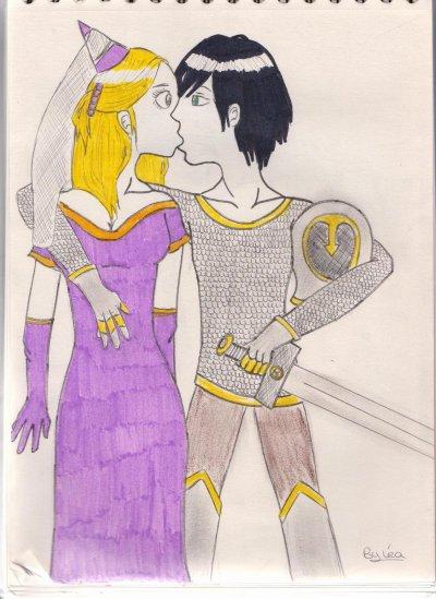 chevalier et sa dame xD