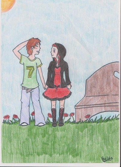 Amoureux dans un parc ^^