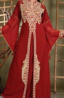 robe de dubai rouge magnifique