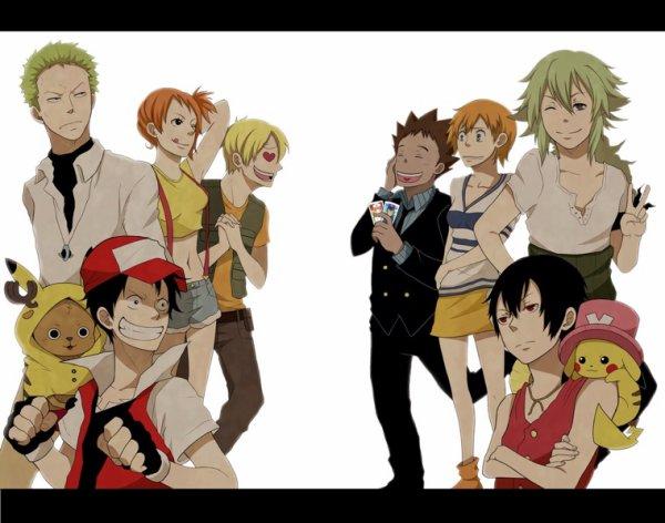 Quand les personnages de One Piece se mettent à Pokémon Go....