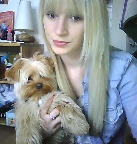 Ma petite puce Lauriane et son petit chien Helliot// Son pépé adoré