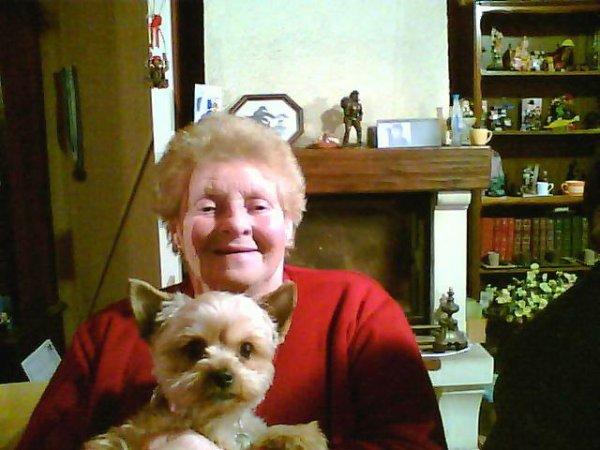 PITCHOUNETTE ET SA MARRAINE ANNE MARIE SEIGNEUR ///////LORS DU REVEILLON AUX  ETATS UNIS CHEZ LOLO LE CLOWN *******************************************************************************************
