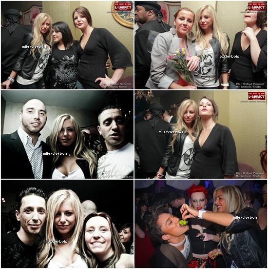‹ Stéphanie a L'impact en compagnie de Bastien Charlotte Vanessa et Nathalie de SS2 pour l'anniversaire de Jerome Moda.