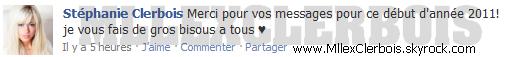 ________________________________________________________________________________  Stéphanie a Paris pour le nouvel an + Statut Facebook !  _____________________________________________________________________________