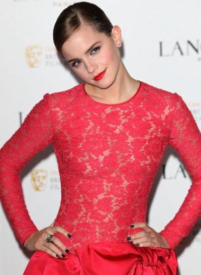 Emma au Pre-BAFTA party de Lancôme.