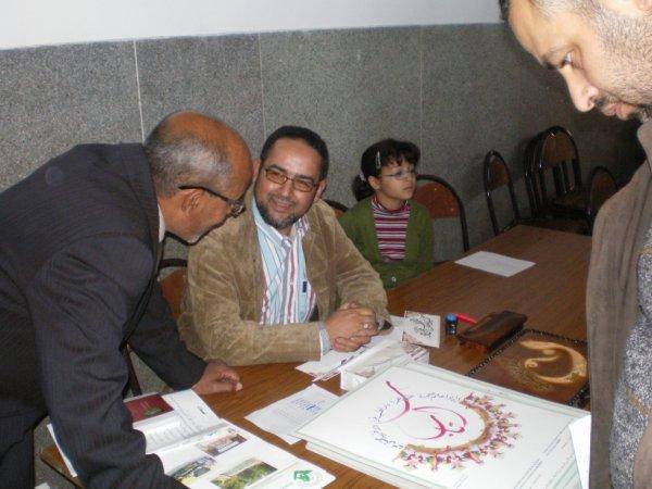 lors de ma derniere exposition    fevrier 2013