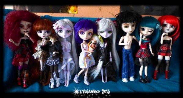 Dessins et nouvelle de mes dolls .