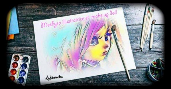 Enfin une page Facebook spécial avec mes dessins et mes maquillages poupées !